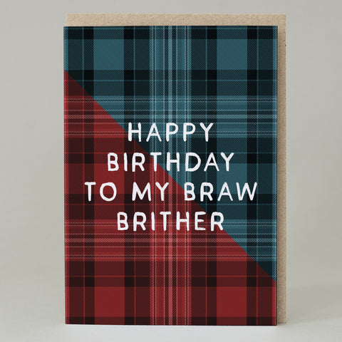 """Braw Brither"" Brother Birthday Card"