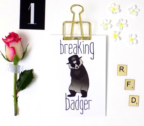 Breaking Badger Card