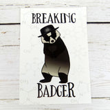 Breaking Badger Postcard
