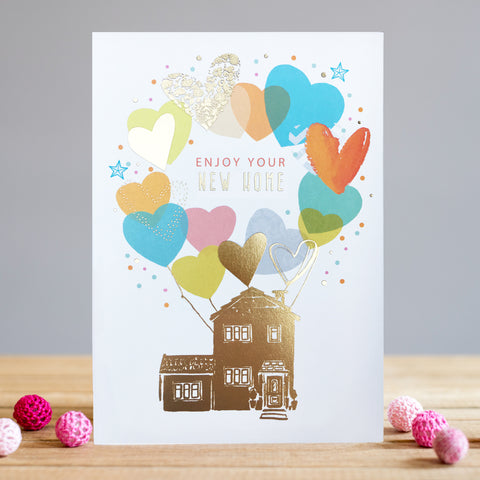 New Home Balloons Card