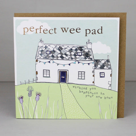 Perfect Wee Pad, Scottish New Home Card