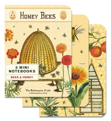 Bees & Honey Set of 3 Mini Notebooks