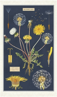 Dandelion Print Cotton Tea Towel
