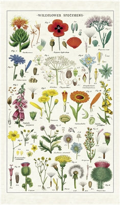 Wildflowers Print Cotton Tea Towel