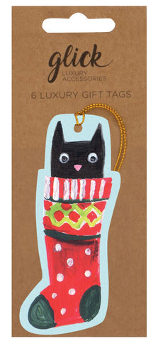 Pack of 6 Luxury Christmas Cats Gift Tags