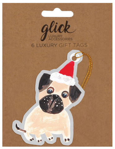 Pack of 6 Luxury Christmas Dogs Gift Tags