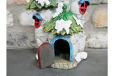Holly Roof House Resin Christmas Ornament