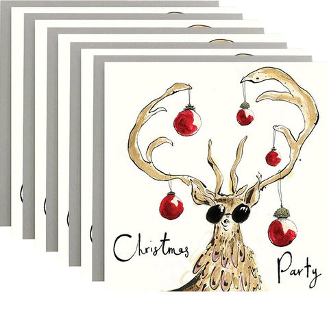 Christmas Party Pack of 5 Cards by Anna Wright