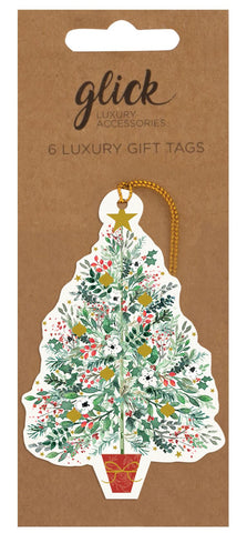 Pack of 6 Luxury Christmas Spruce Gift Tags