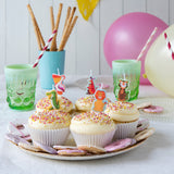 Colourful Creatures Party Candles (pack Of 5)