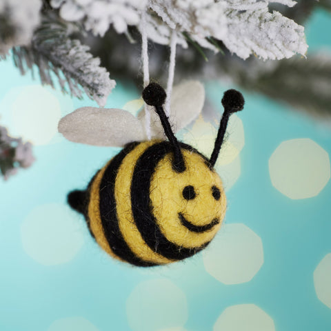 BEE HAPPY FELT HANGING DECORATION