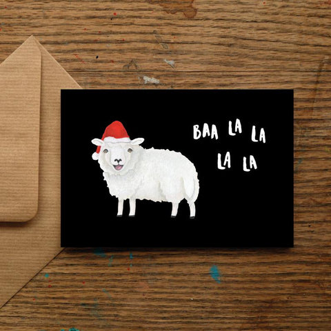 Baa La La Christmas Card