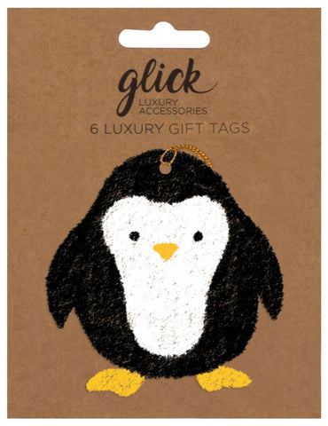 Pack of 6 Luxury Cute Penguin Gift Tags
