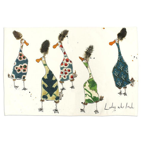 Anna Wright Ladies Who Lunch Tea Towel