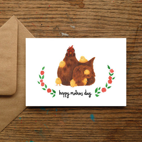 Mother Hen Mothers Day Card