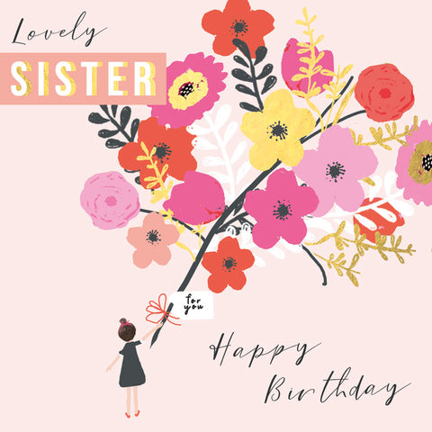 Lovely Sister Birthday Card