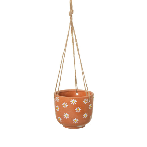 HANGING DAISY TERRACOTTA PLANTER