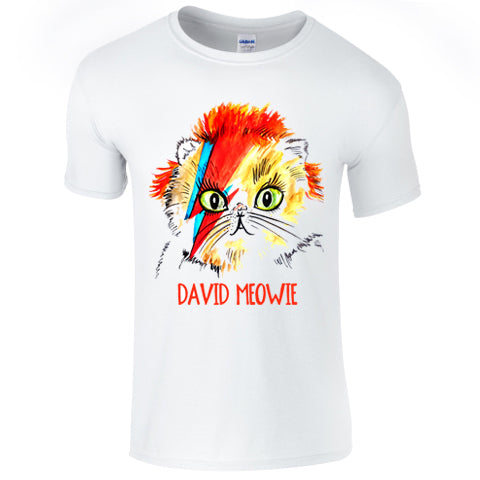 David Meowie Mens T Shirt