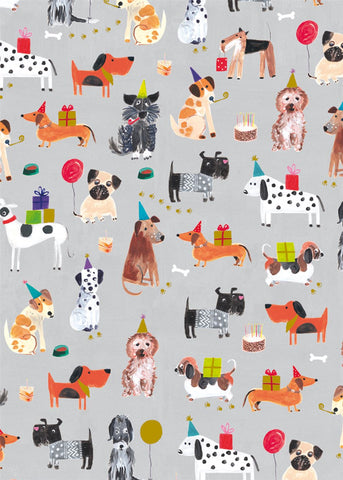 Tails & Whiskers Doggy Print Gift Wrap Sheet