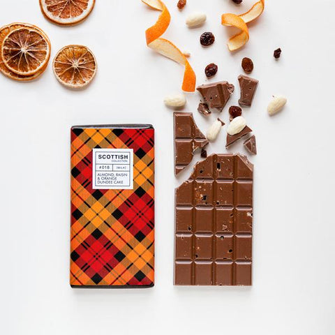Dundee Cake Scottish Milk Chocolate Bar