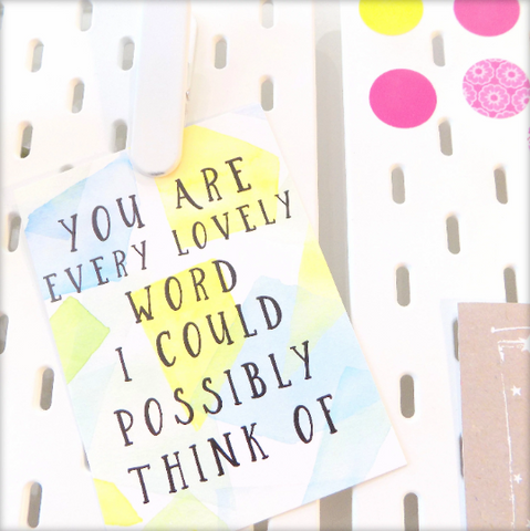 You Are Every Lovely Word Postcard