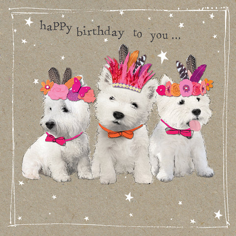 Happy Birthday Westies Birthday Card