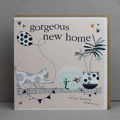Gorgeous New Home Cat Card