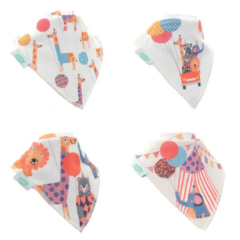 Big Day Out Print Pack of 4 Dribble Bibs