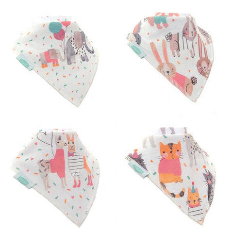 Ticker Tape Parade Pack of 4 Dribble Bibs
