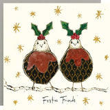 Festive Friends Christmas Card by Anna Wright