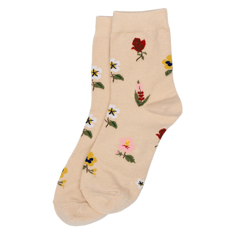 Flora Wildflowers Ladies Cotton Socks