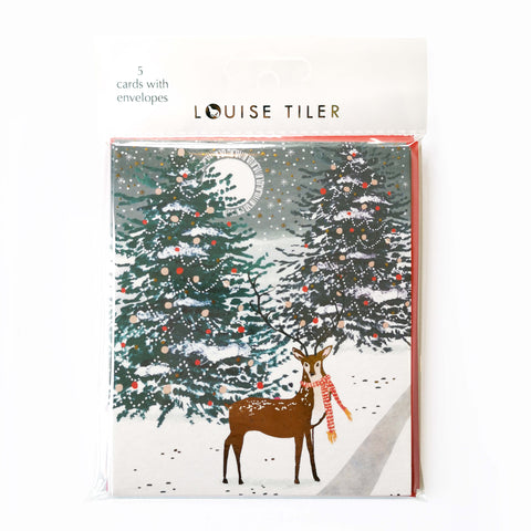 Forest Deer Pack of 5 Christmas Cards