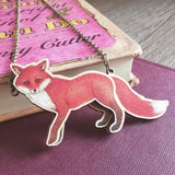 Fox Birthday Card & Wooden Necklace