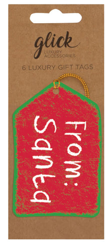 Pack of 6 Luxury From Santa Gift Tags