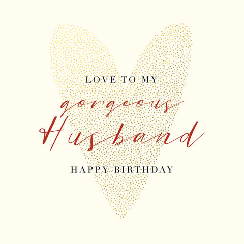Gorgeous Husband Birthday Card