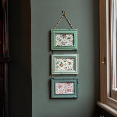 DELILAH TRIPLE PHOTO FRAME GREEN