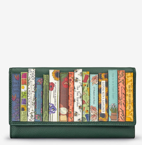Green Fingers Bookworm Leather Hudson Purse
