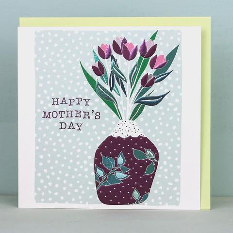 Happy Mothers Day Vase Card