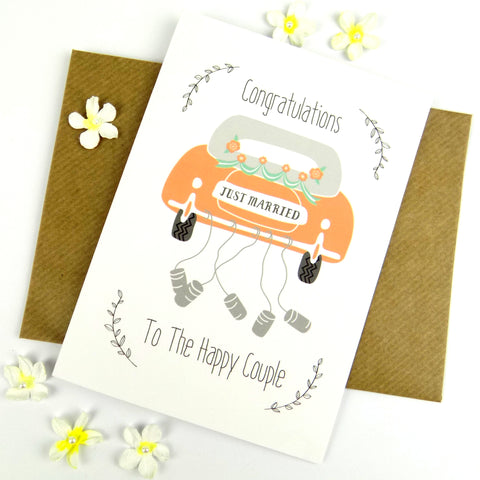 Congratulations To The Happy Couple Car card