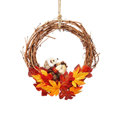 WOODLAND WREATH WITH HEDGEHOG
