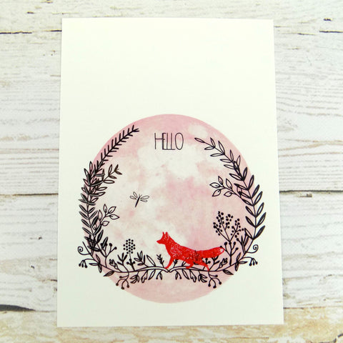 Hello (Red Fox) Postcard
