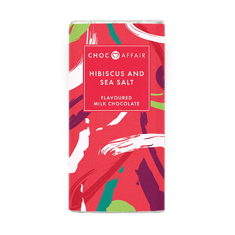 Hibiscus & Seasalt Milk Chocolate Bar