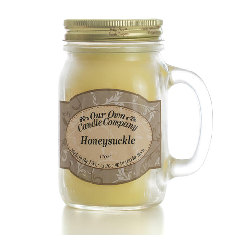 Honeysuckle Large Mason Jar Candle