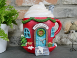Cosy Hot Chocolate House Resin Christmas Ornament