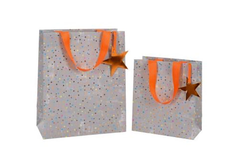Grey Stars Gift Bag Large