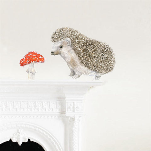 Hedgehog & Toadstool Wall Decals