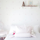 Watercolour Dots Wall Stickers, Mono-colour