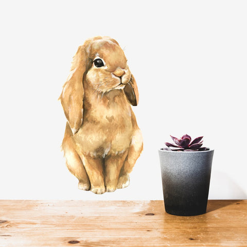 Brown Bunny Wall Decal