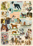 Vintage Dog Collage Print Gift Wrap/Poster