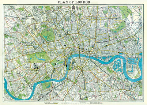 Map of London Print Poster
